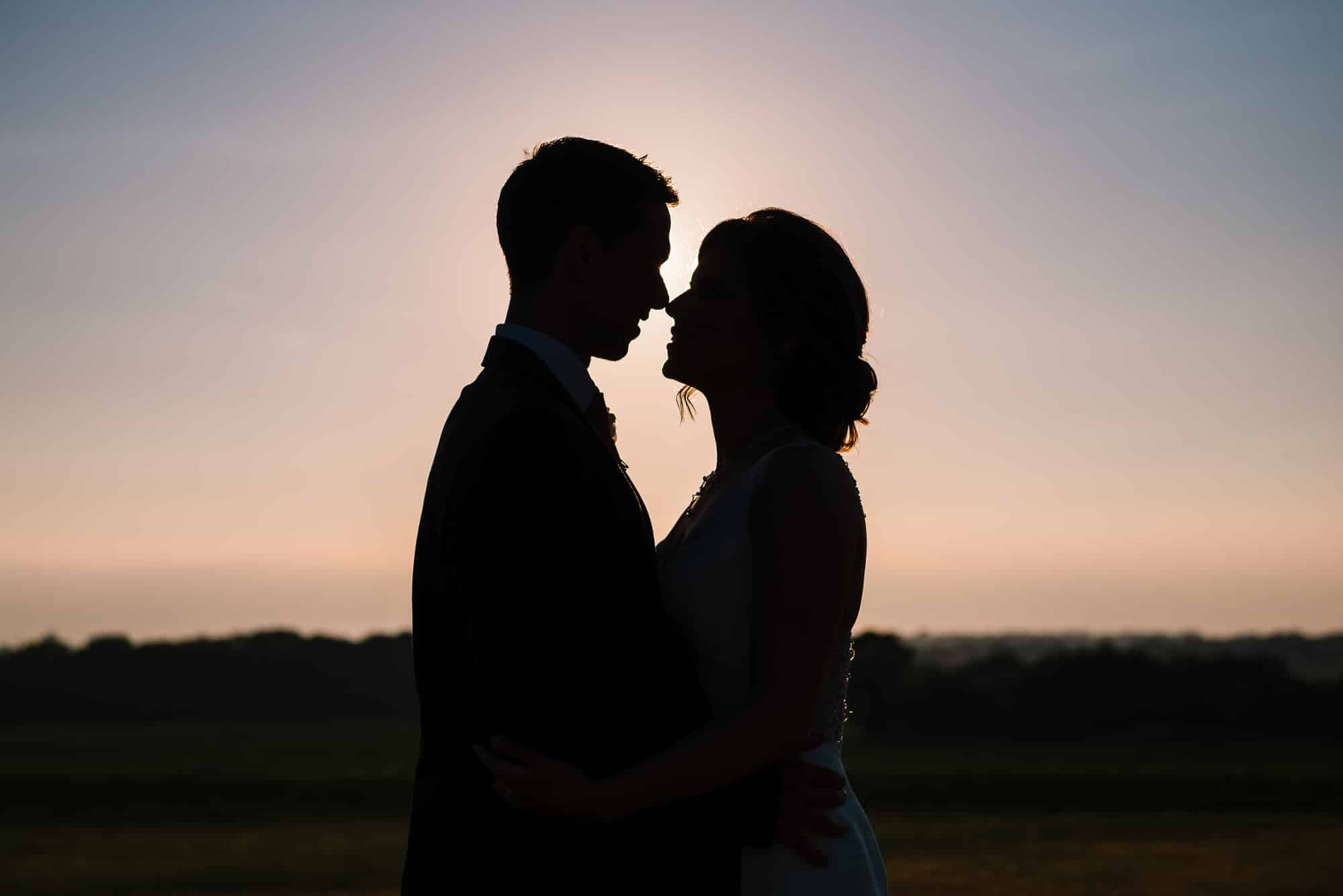 Bride and groom silhoute at Beeston Manor, photographed by Andy Griffiths Photography