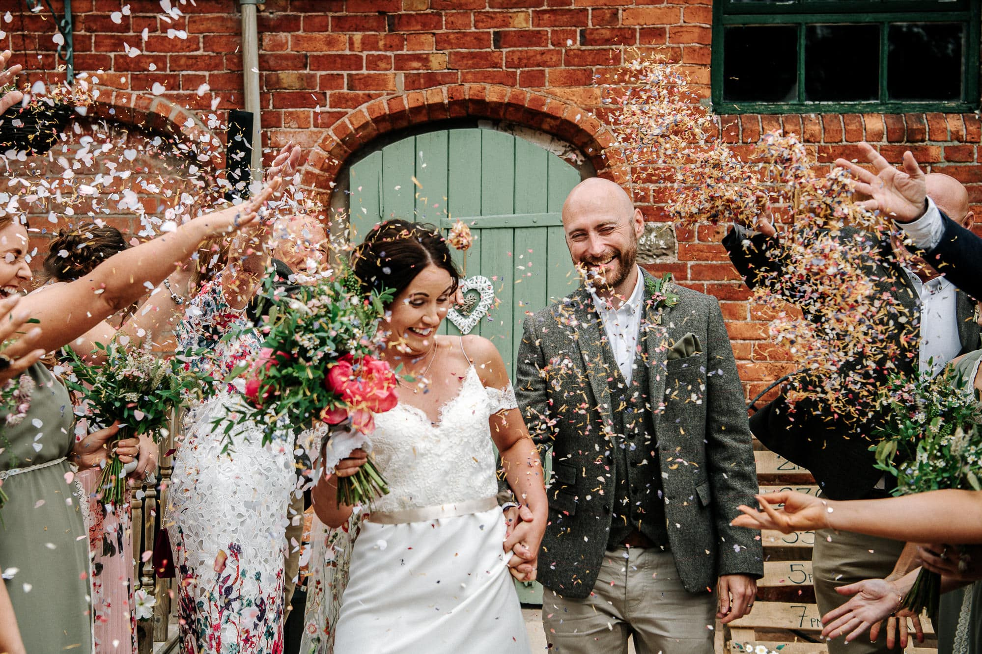 confetti at Stanford farm