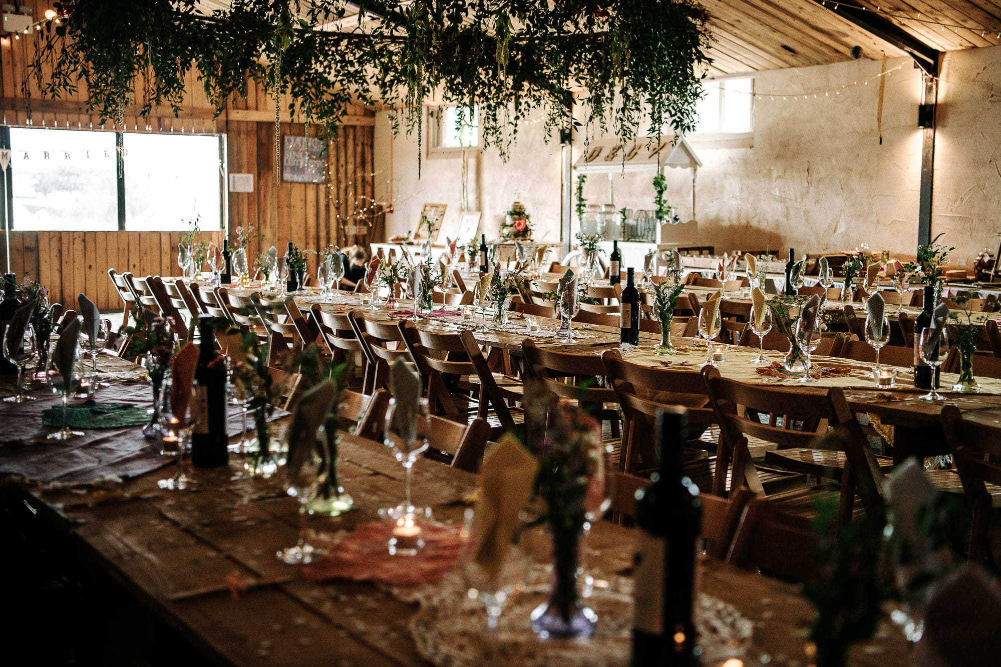 a photograph of the wedding breakfast room at Stanford farm