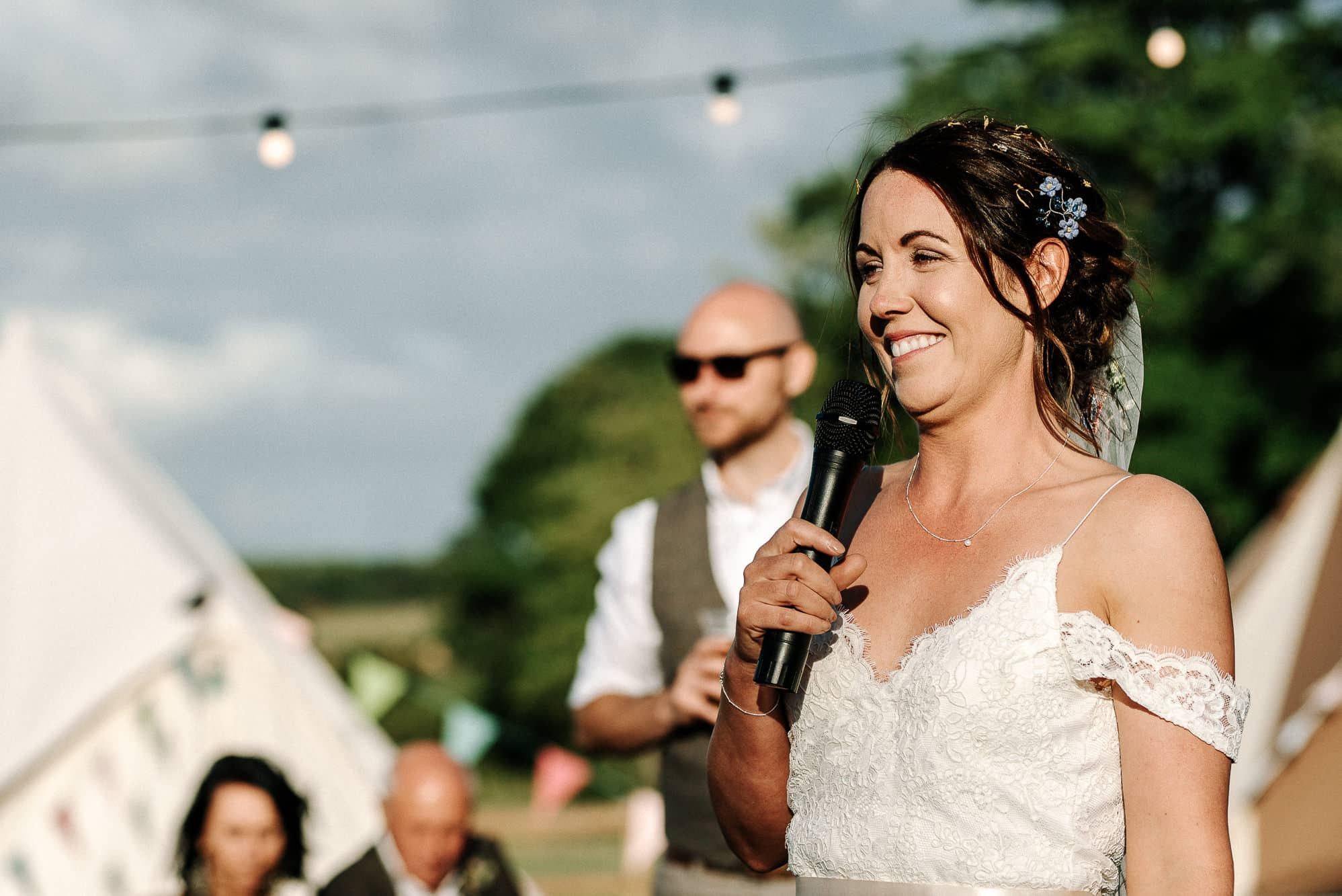 Brides speech at Stanford farm