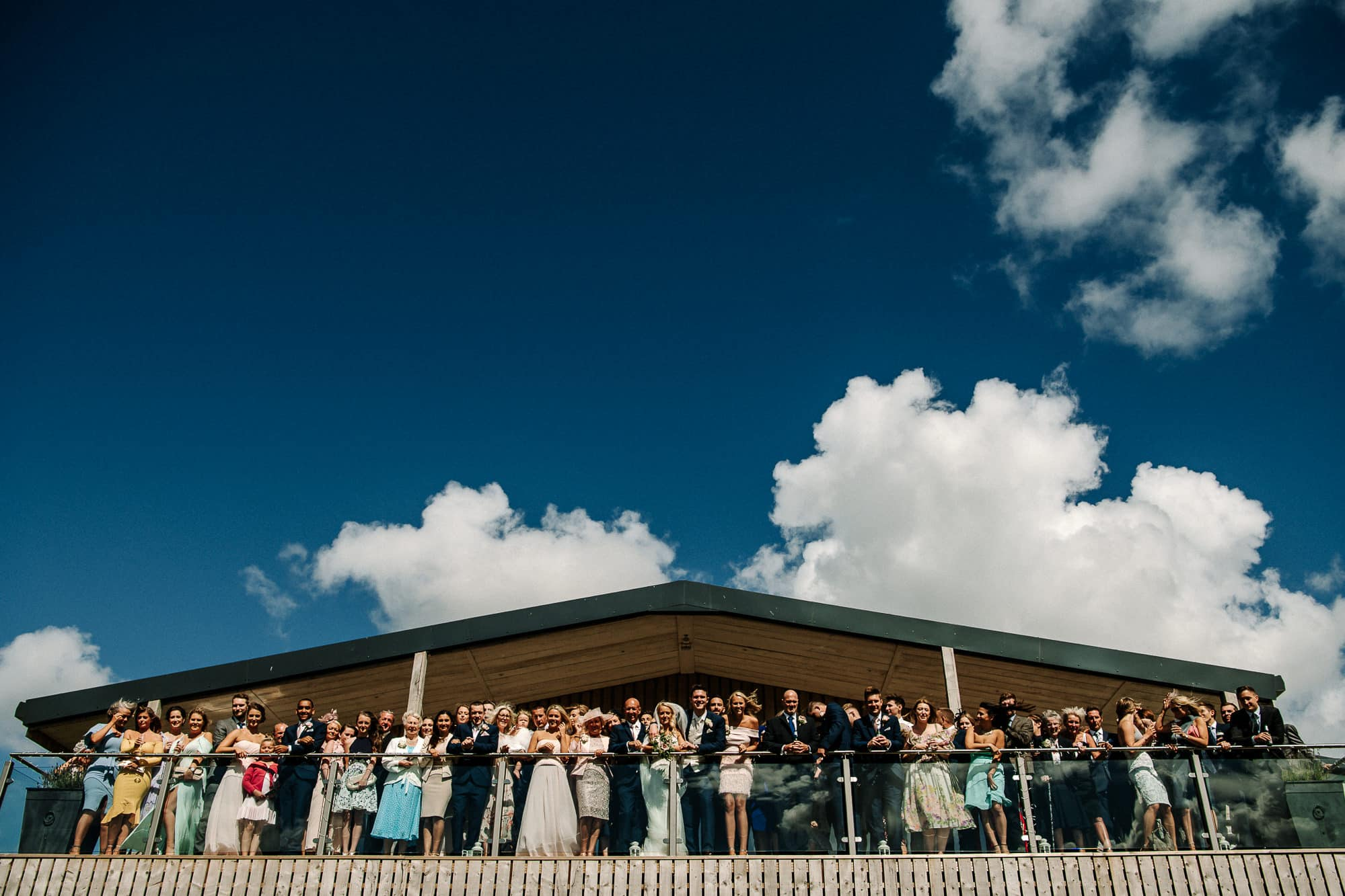 Whole group photo at Bashall Barn on the Balcony