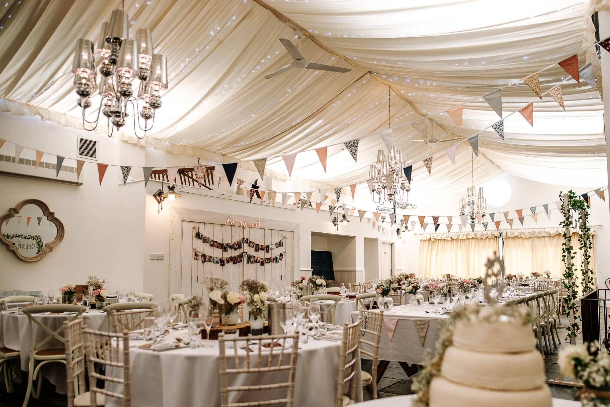A photo of the whole room at Bashall Barn