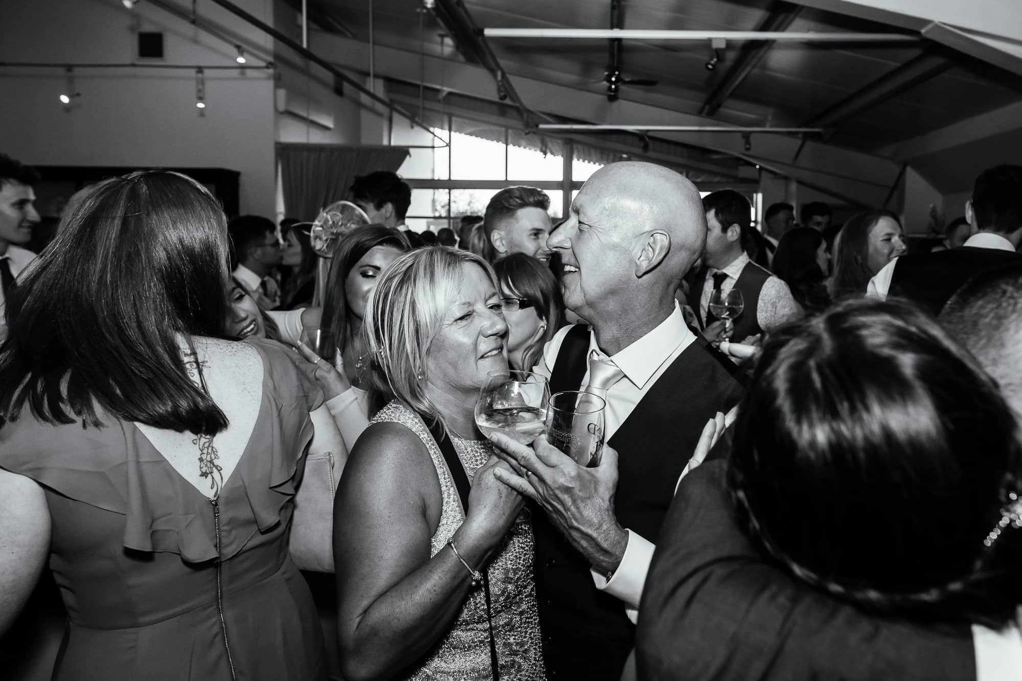 Brides mum and dad on the dance floor