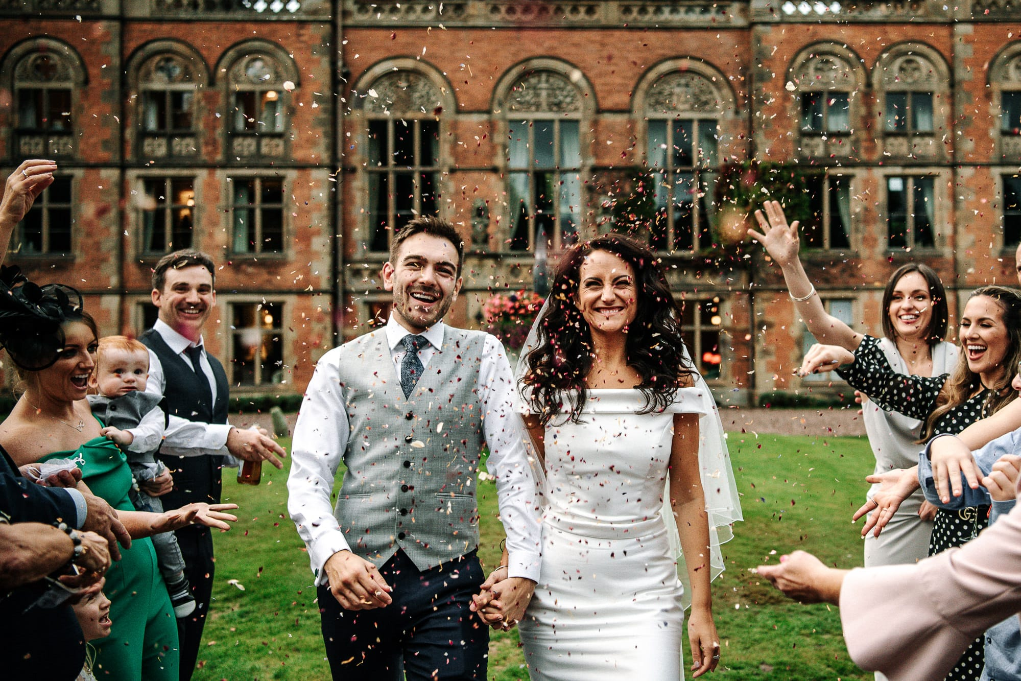 confetti shot at Soughton Hall