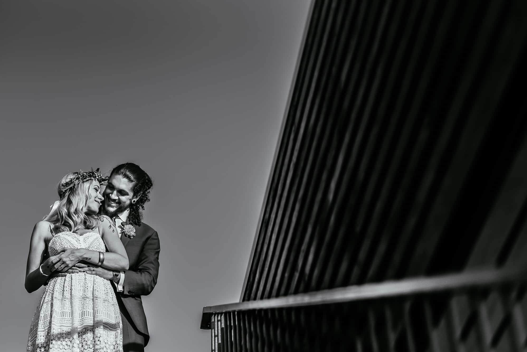 Couples portrait on the Seehotel, Lake Constance