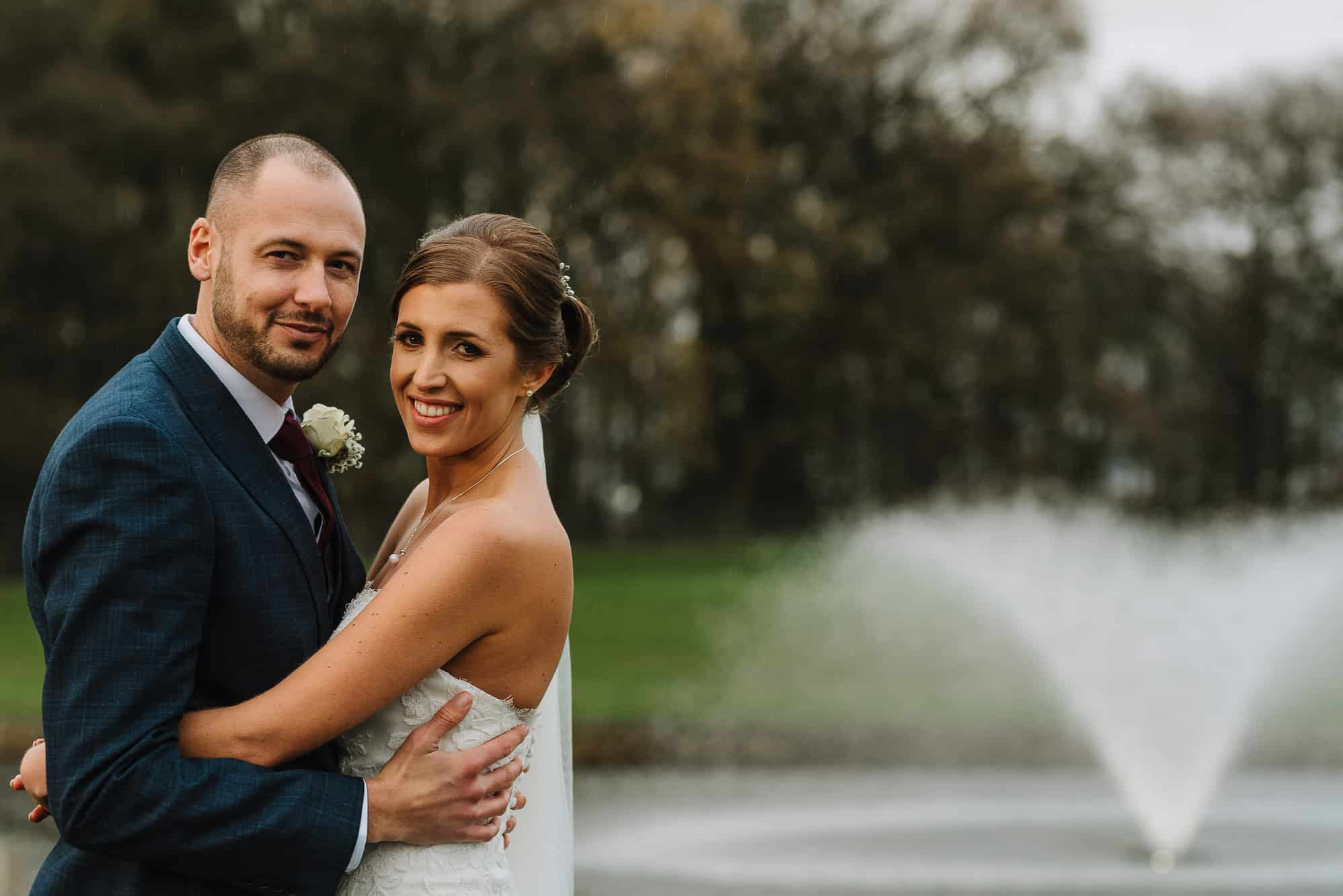 Bride and groom at Merrydale Manor