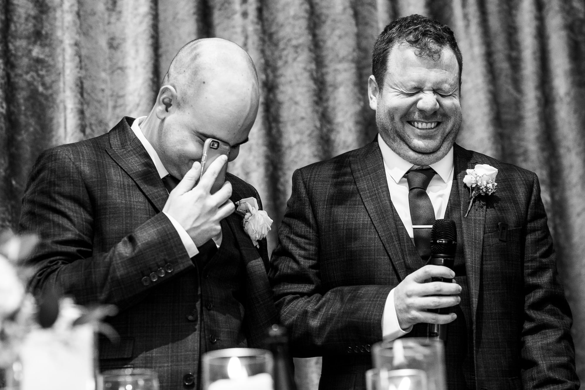 Best man speech and both of them laughing