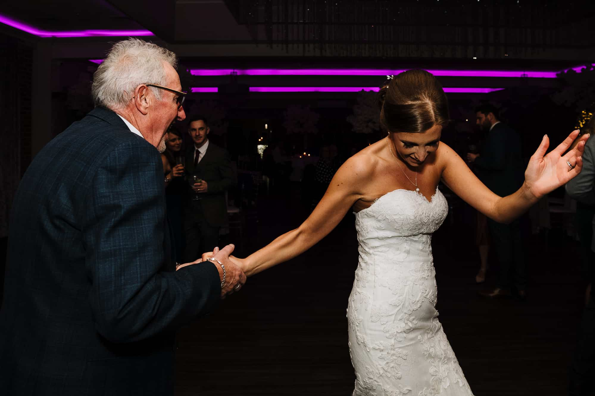 bride and her dad dancing