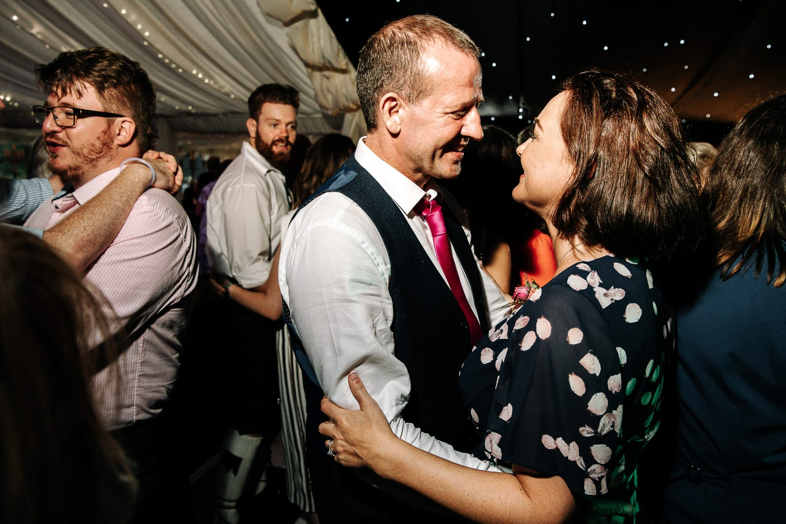 parents dancing at Nunsmere hall