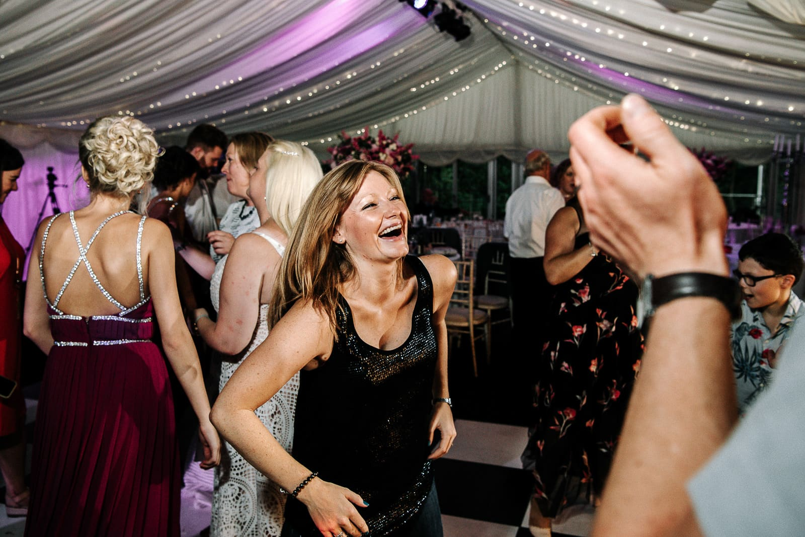 Guests dancing at Nunsmere Hall