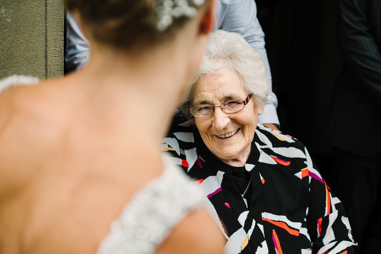 Bride talking to her gran