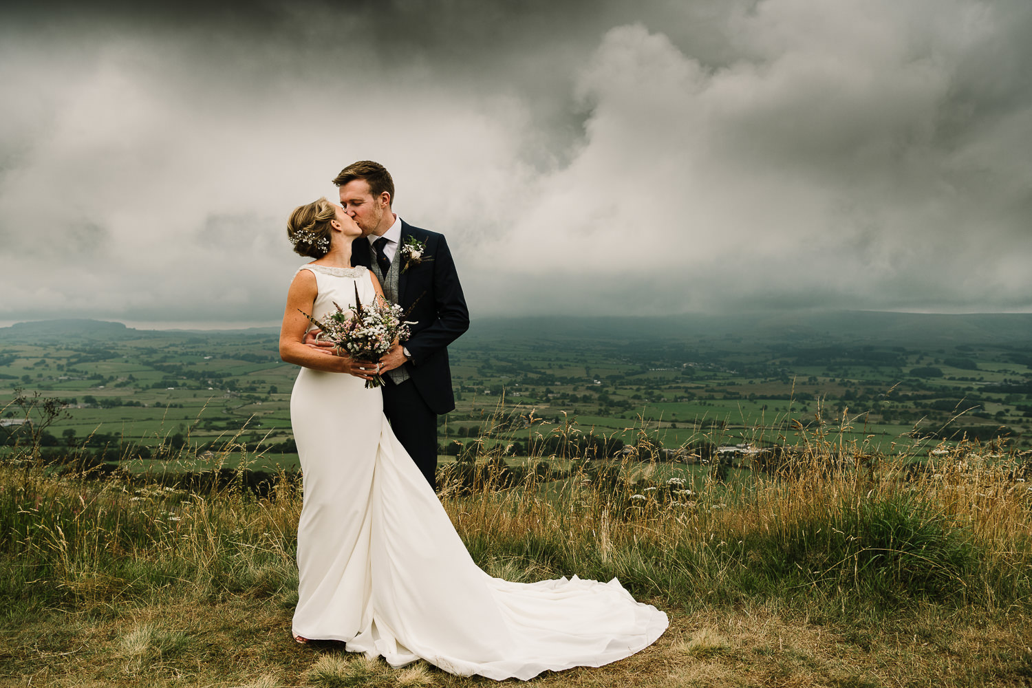Portrait of the couple in the Ribble Valley