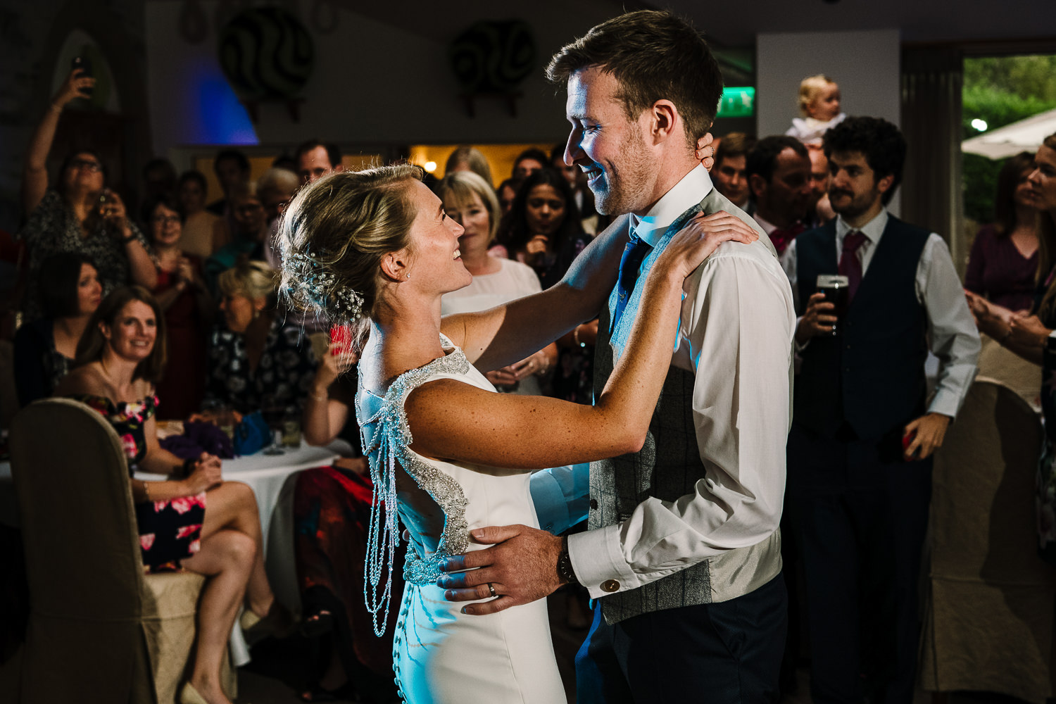 First dance photo of bride and groom