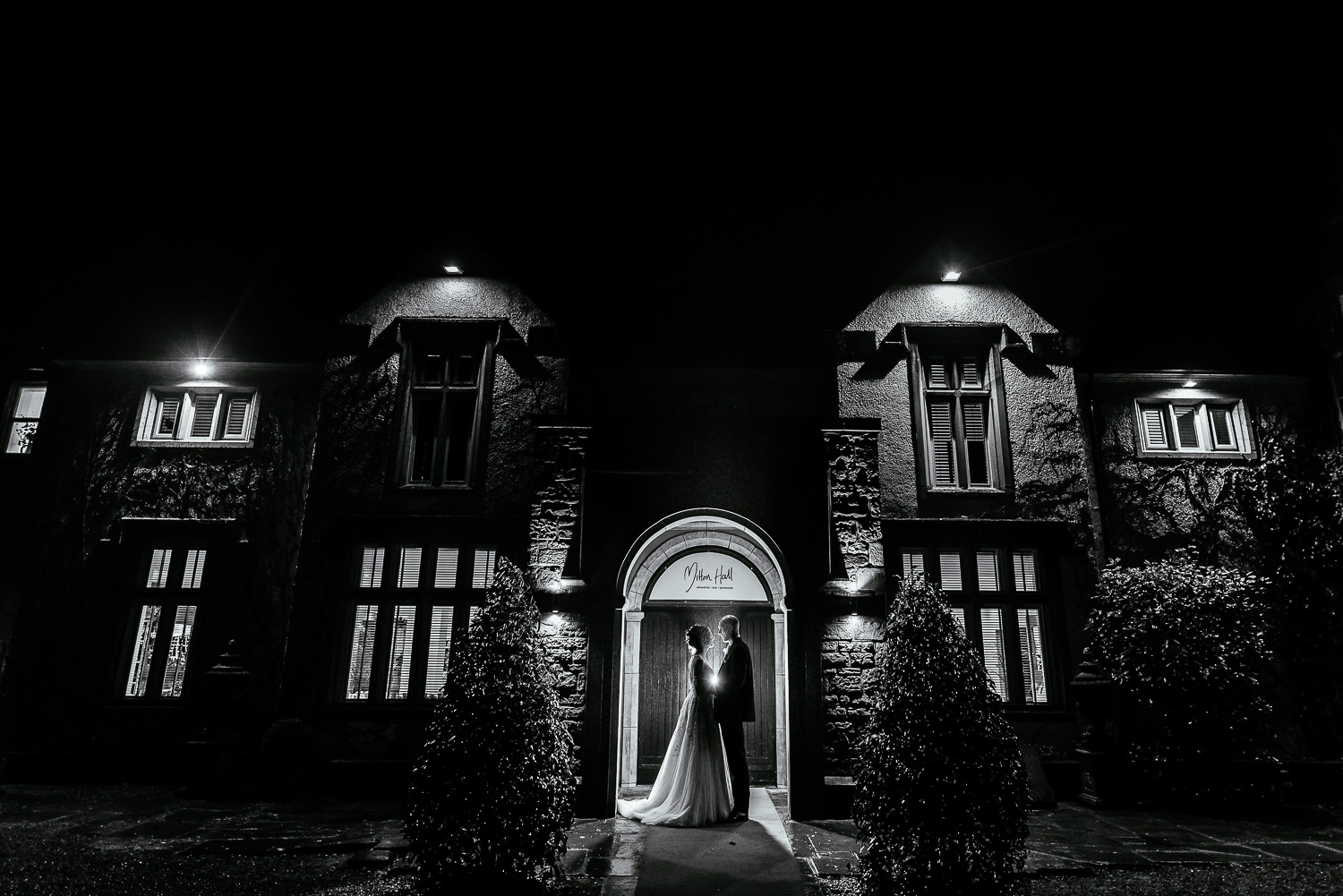 Night time portrait from Mitton Hall
