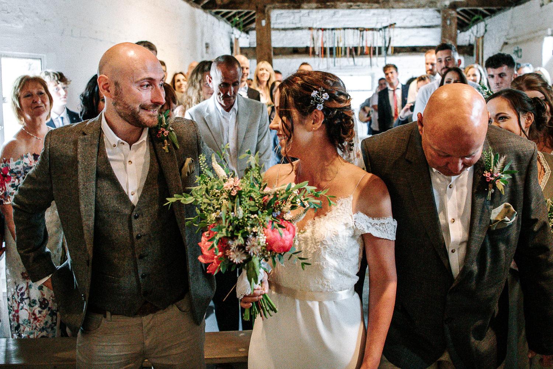 bride seeing groom