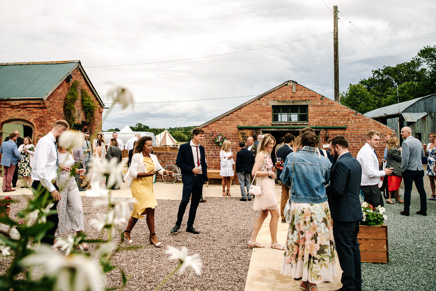 Shot of guests drinking during reception drinks
