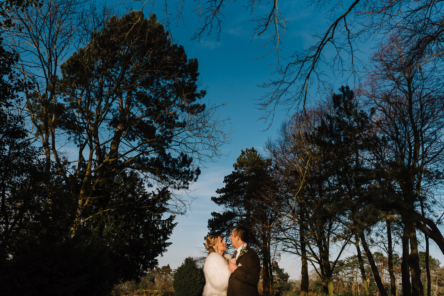 bride and groom portrait and Inglewood Manor