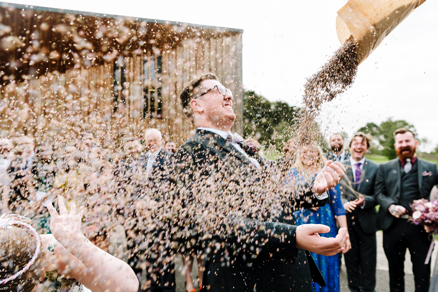 confetti shot at Greenacres