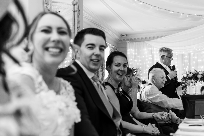Brides god father doing a speech