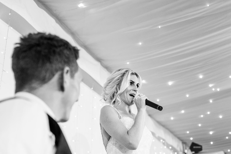 Brides speech at Iscoyd Park