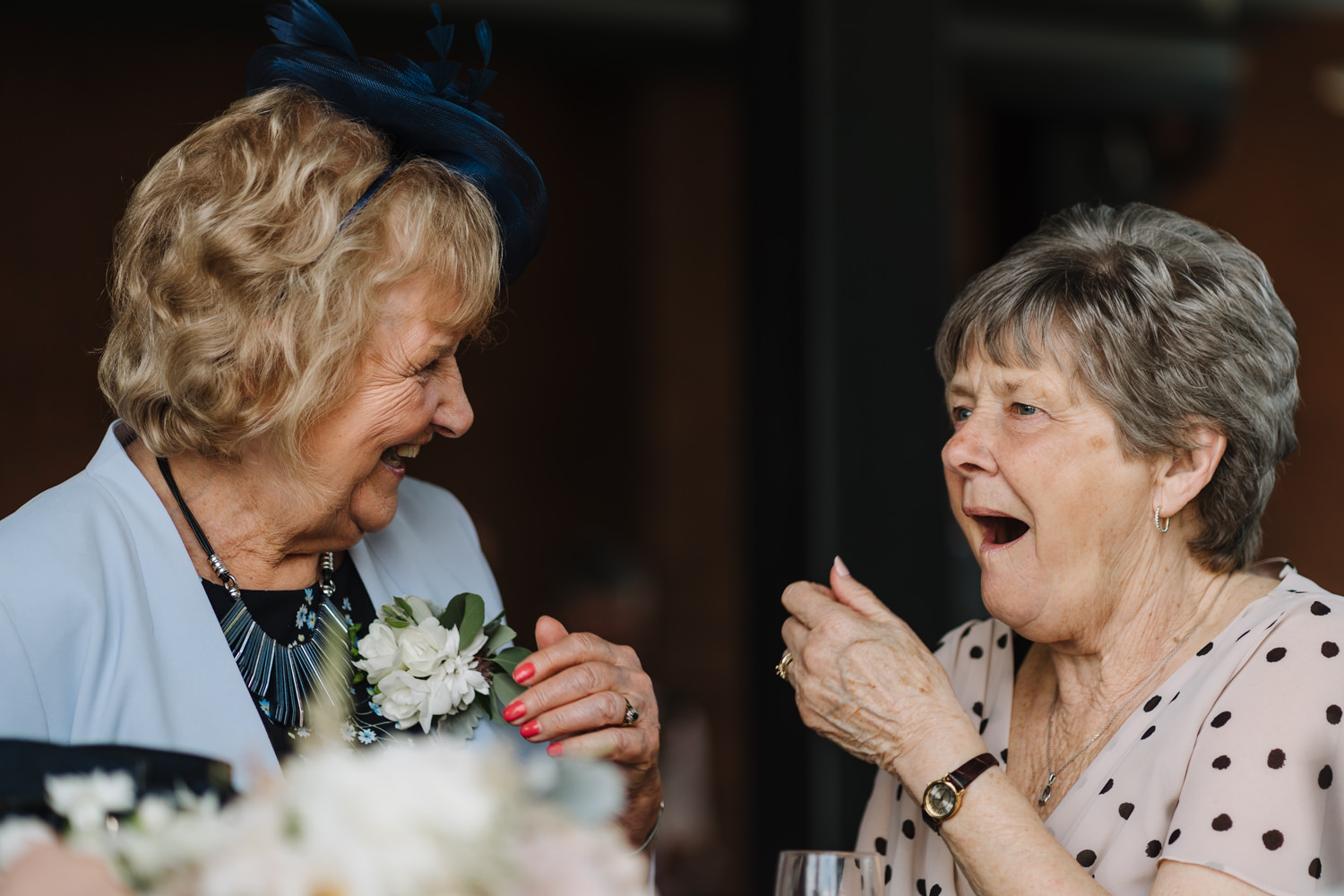 Brides gran laughing