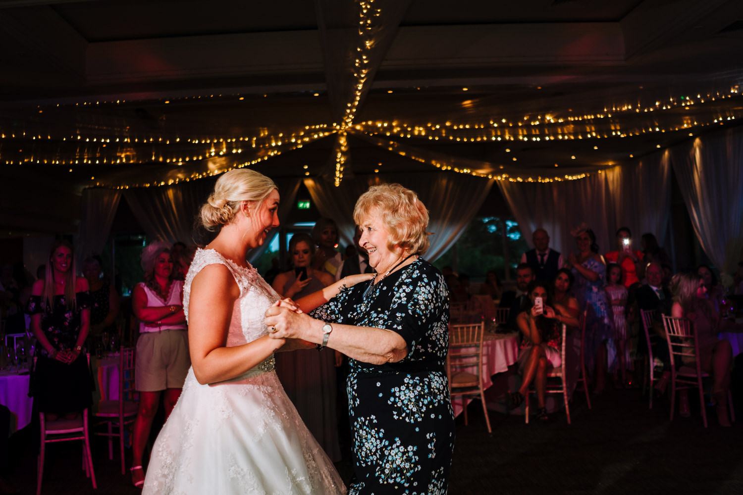 Bride dancing with her gran