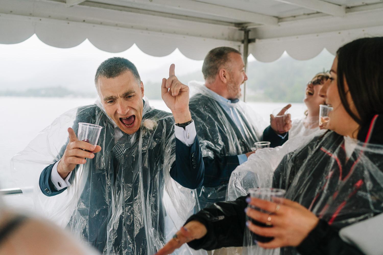 Brides dad dancing
