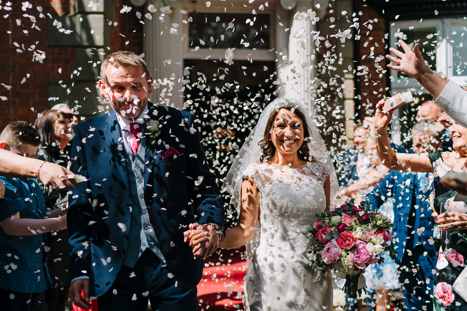 Confetti shot at Ashfield House