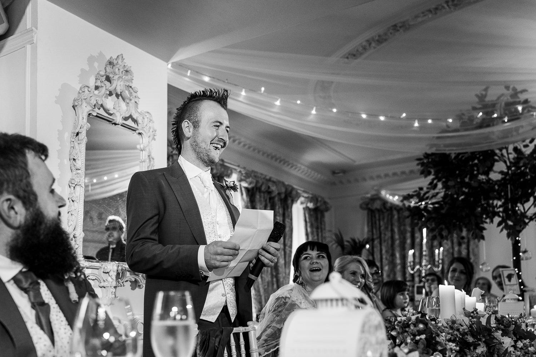 groom speech at Eaves Hall