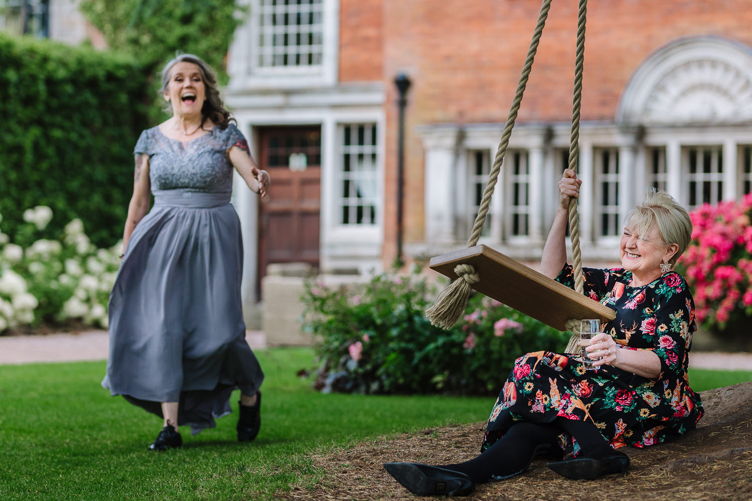 Grooms mum fell of the swing at Eaves Hall