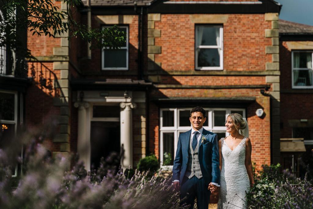 Couple walking at Ashfield House