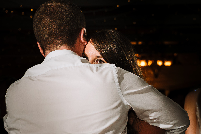 Guest hugging on dance floor