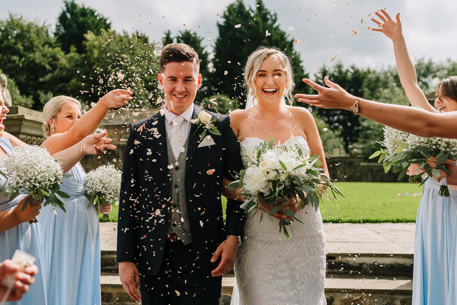 confetti shot at Beeston Manor