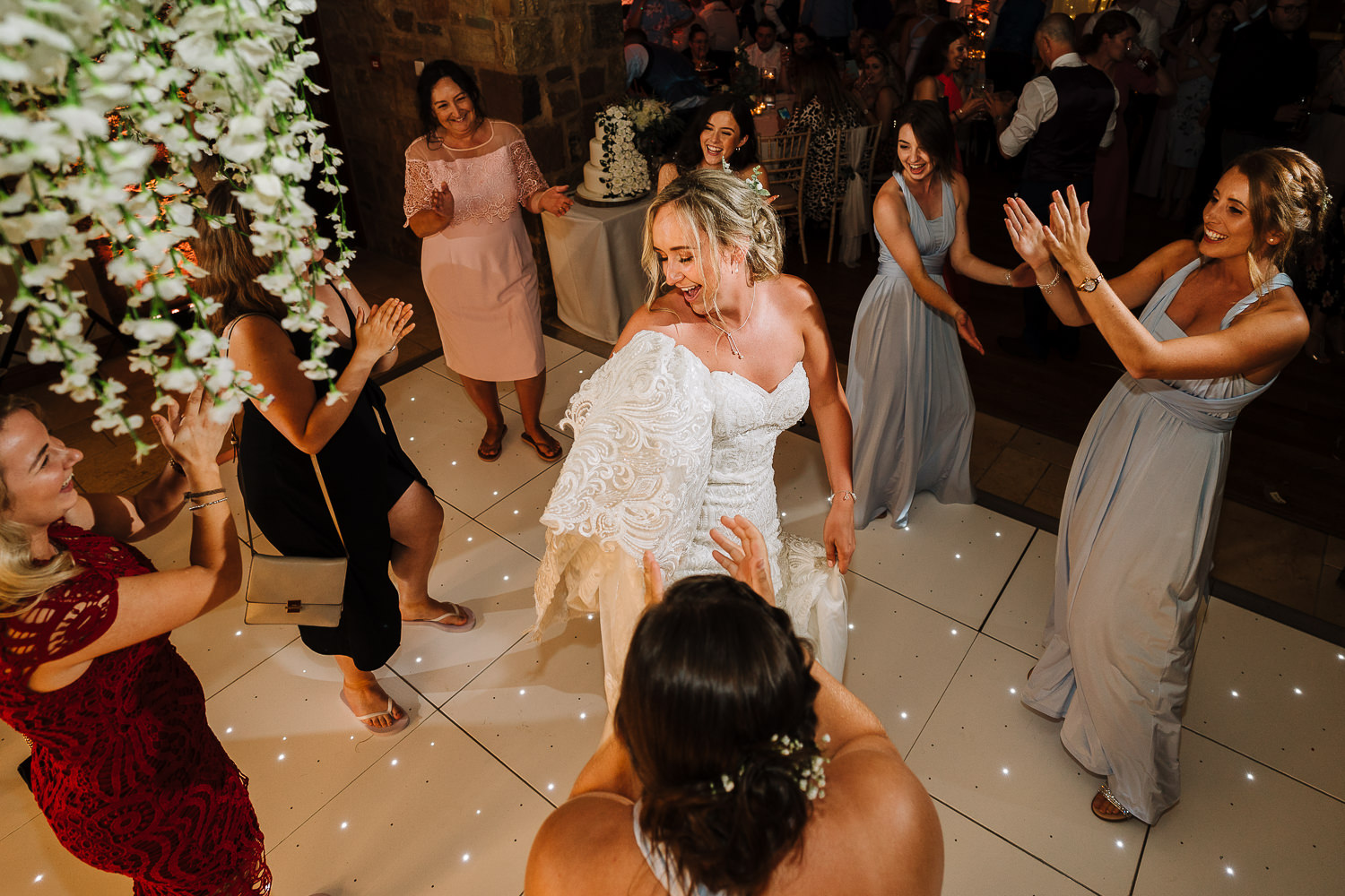 bride dancing at Beeston Manor