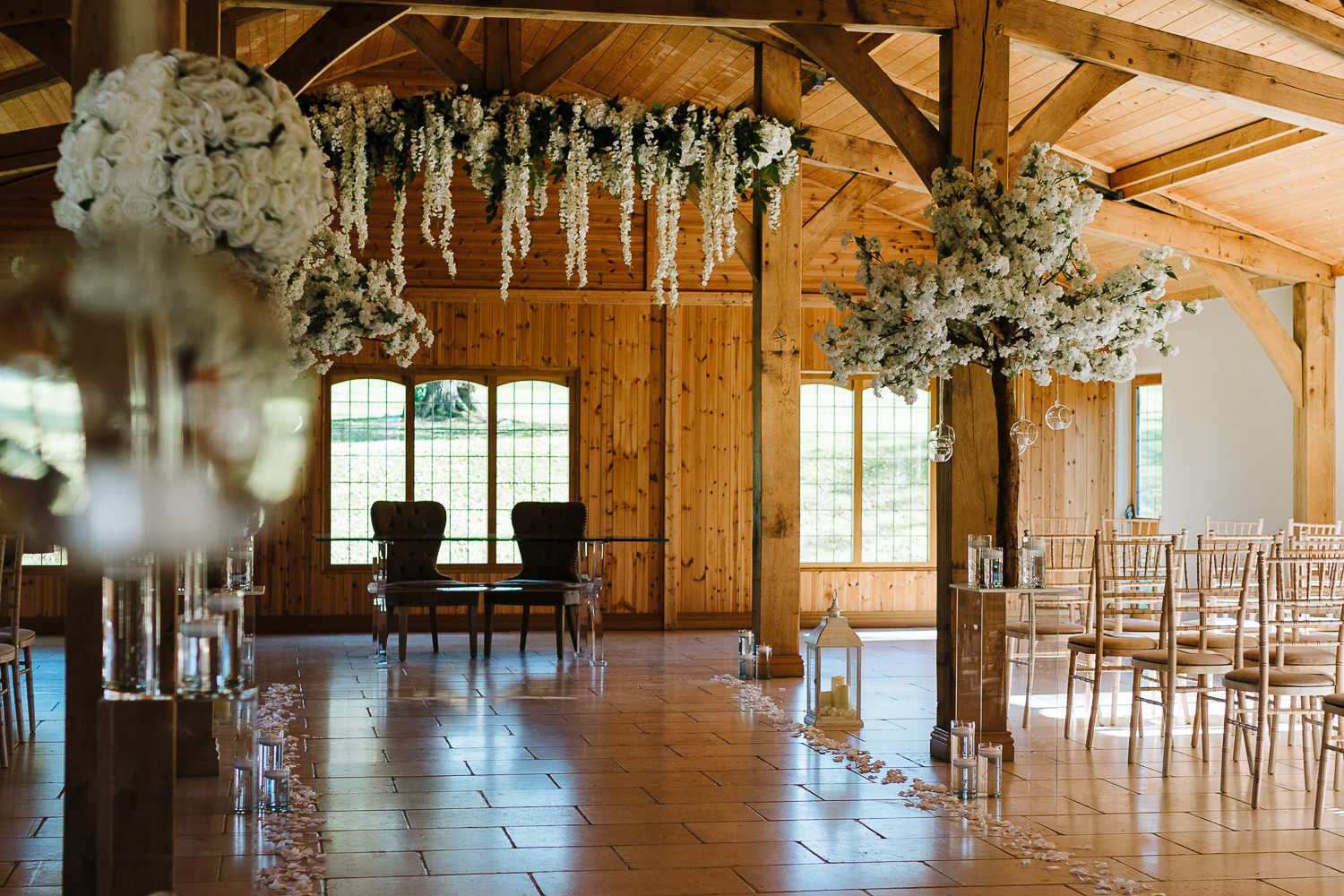 A photo of inside the ceremony room at Colshaw hall