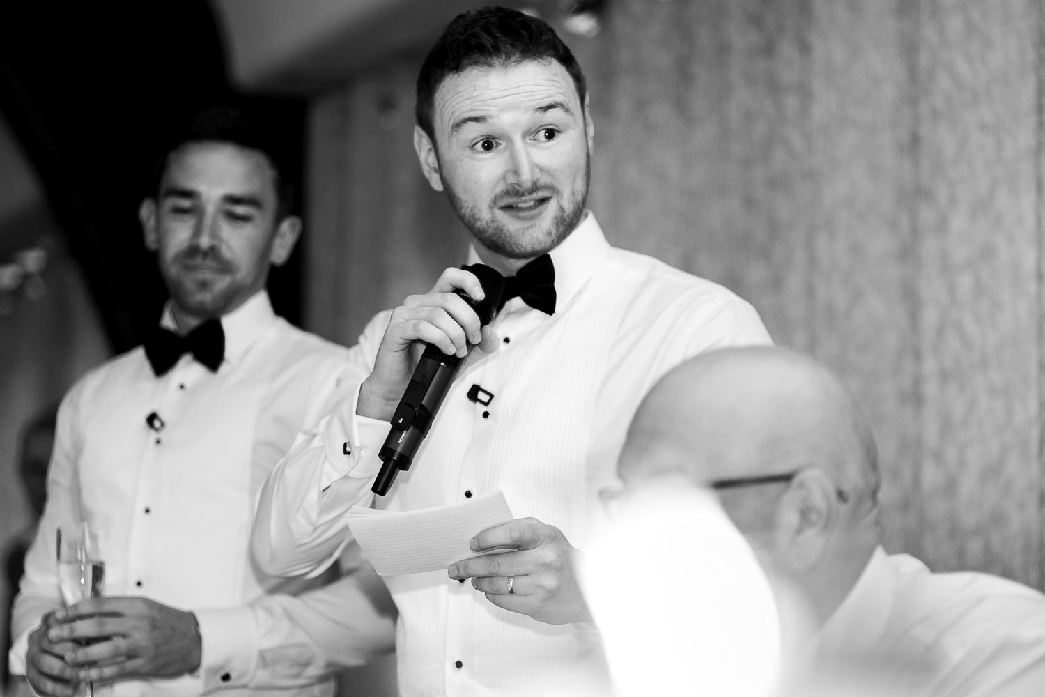Best man speech at Colshaw Hall