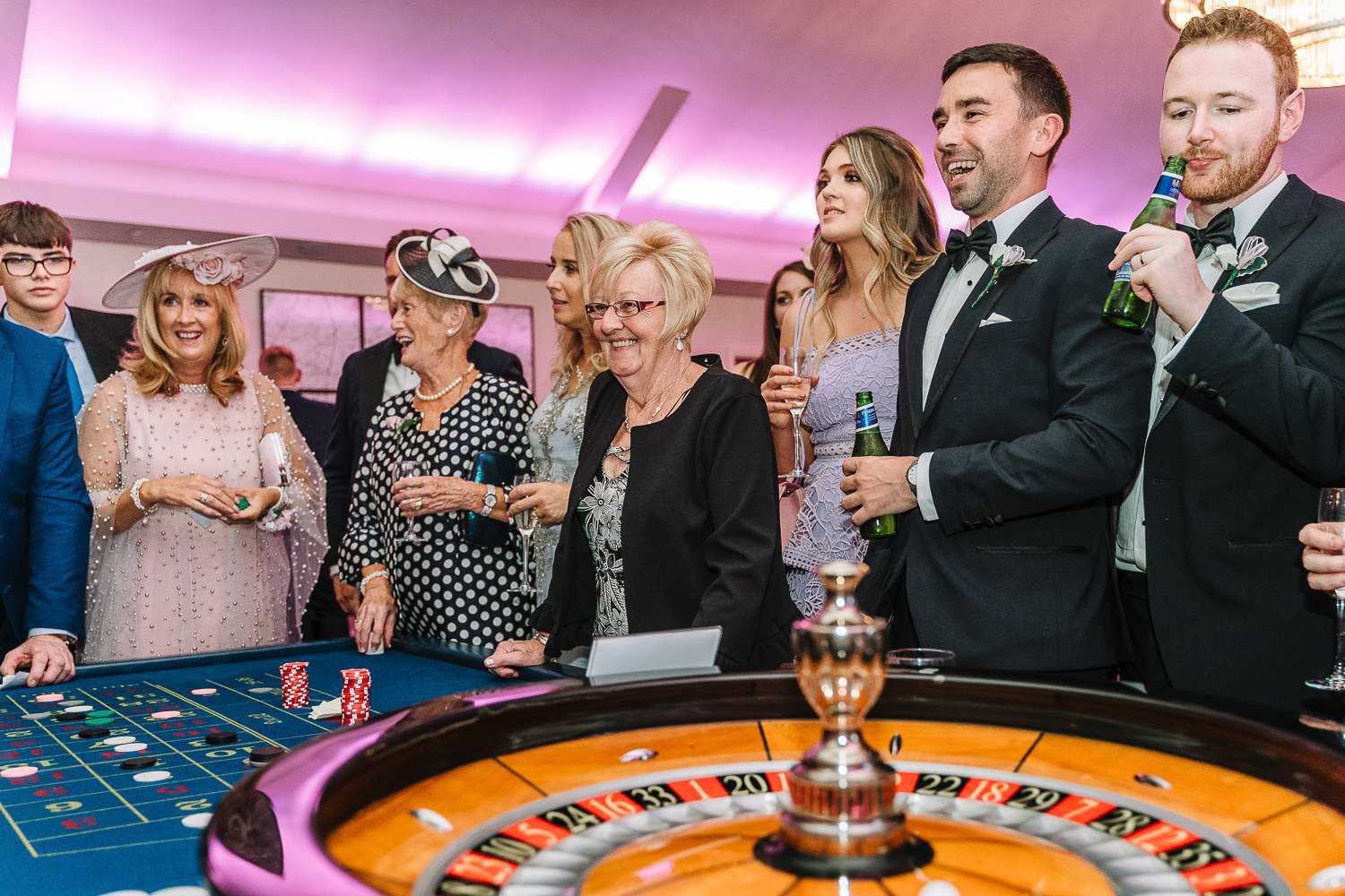 Guests at the roulette table