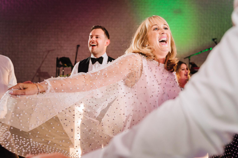 Brides mum dancing at Colshaw Hall