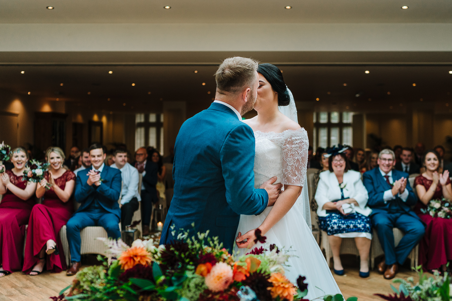 First kiss at Mitton Hall