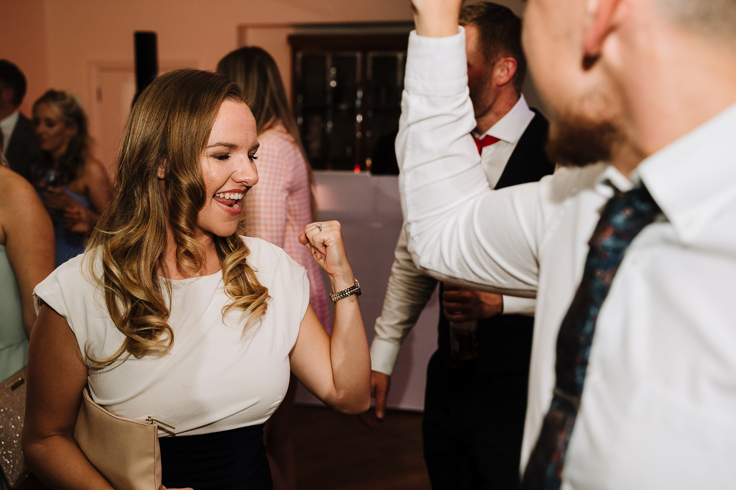 Guests dancing at Mitton Hall