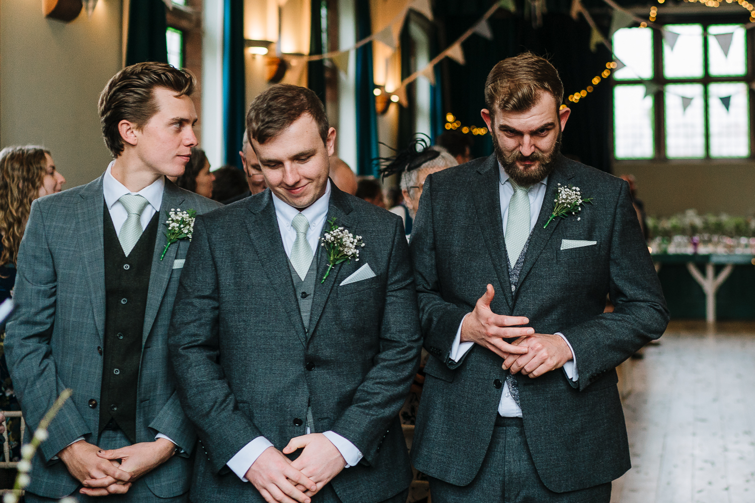 Groomsmen waiting for the bride