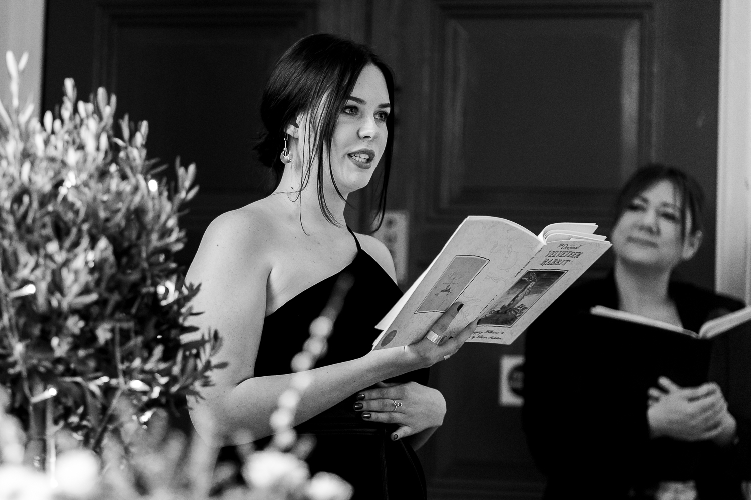 Reading by a wedding guest at the Barbour Institute