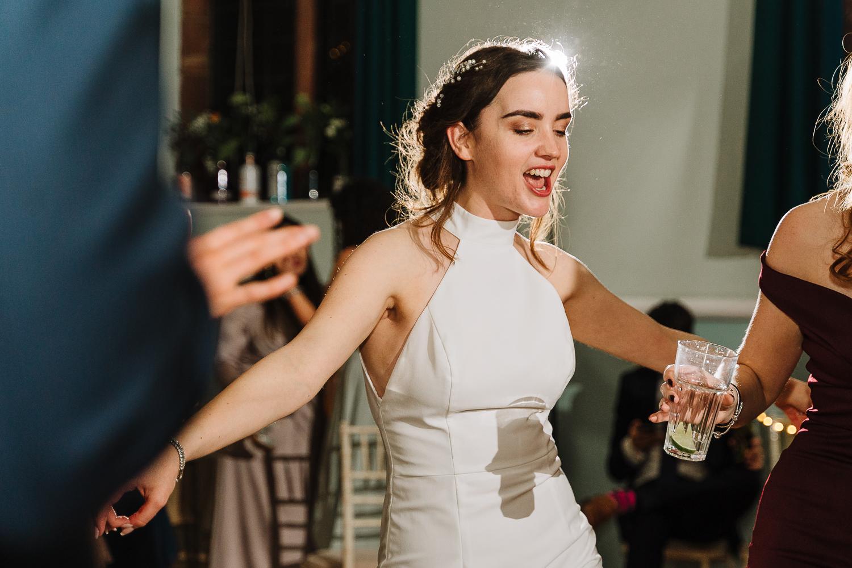 Bride dancing at Barbour Institute