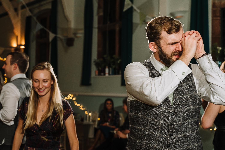 Groom dancing at Barbour Institute