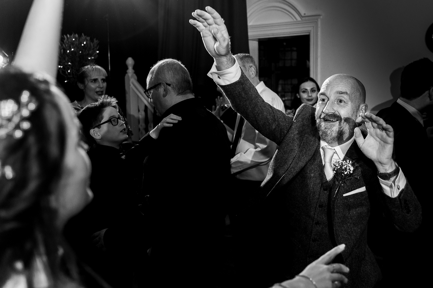 Father of bride dancing with her dad