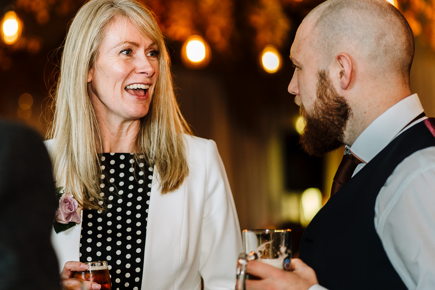 Guests laughing at Lancaster Brewery