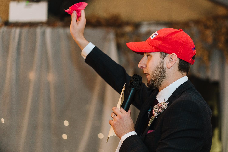 Groom speech at Lancaster Brewery