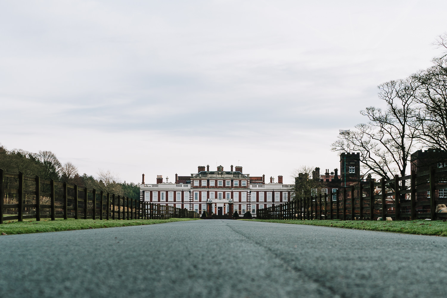 A photo of Knowsley Hall from the drive