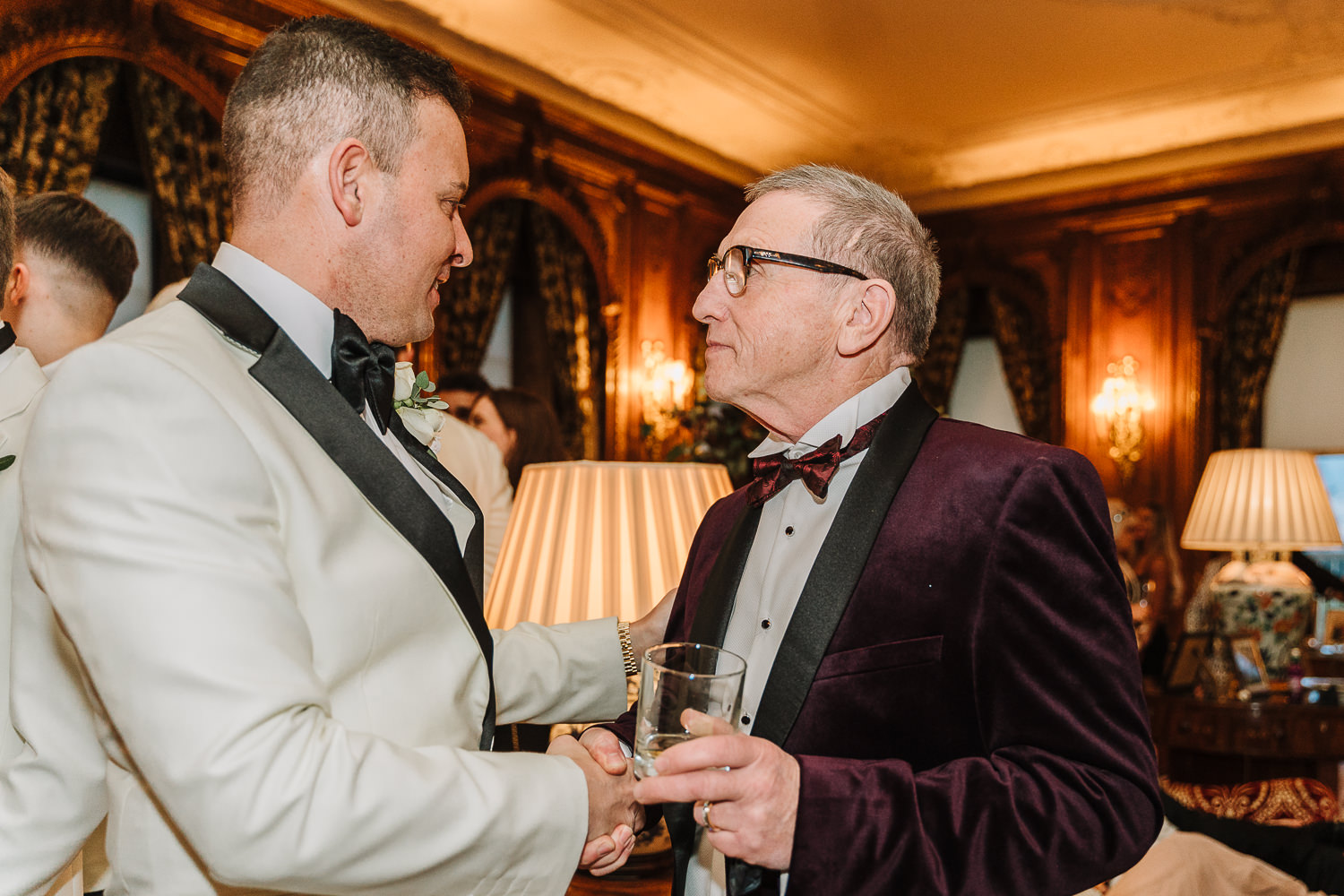 Groom talking to a guest at Knowsley Hall