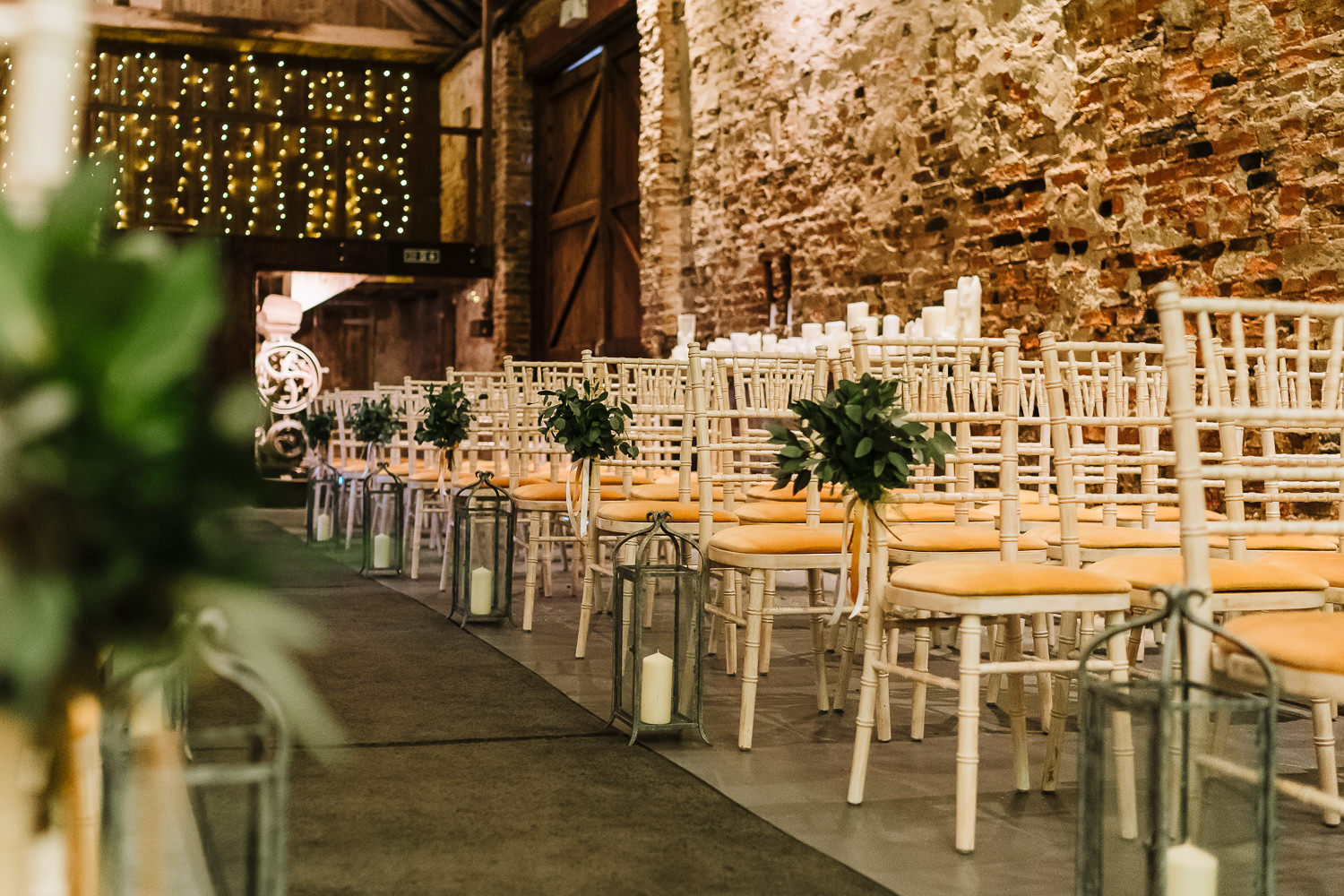 Ceremony room at the Normans wedding venue